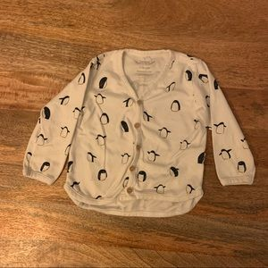 Red caribou long sleeve buttoned tshirt
